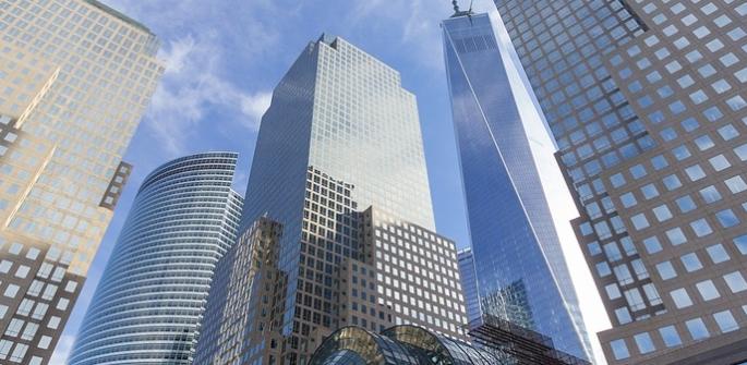 szklane budynki